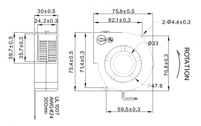 12V 24V DC Centrifugal Fan