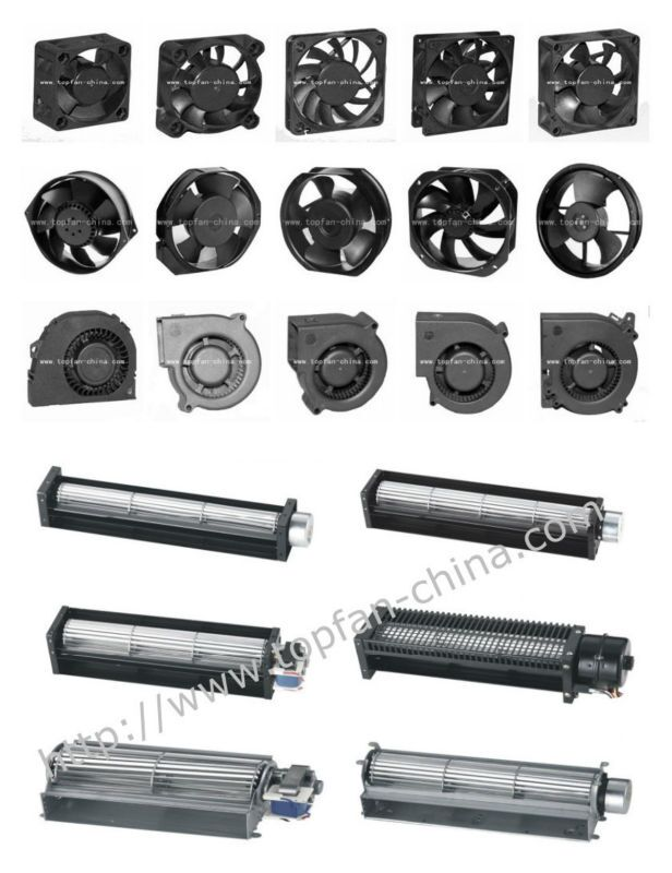 40mm 12V / 24V / 48V Dc Cross Flow Fans with Alumunim Alloy Frame / Impeller