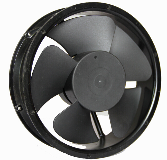Plastic Impeller Brushless Cooling Fan 8.7 Inch AC Exhaust Cooler Fan