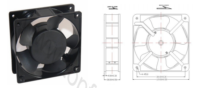 Cooling Fans For Electronic Equipment : Mm electronic equipment cooling fans v ac