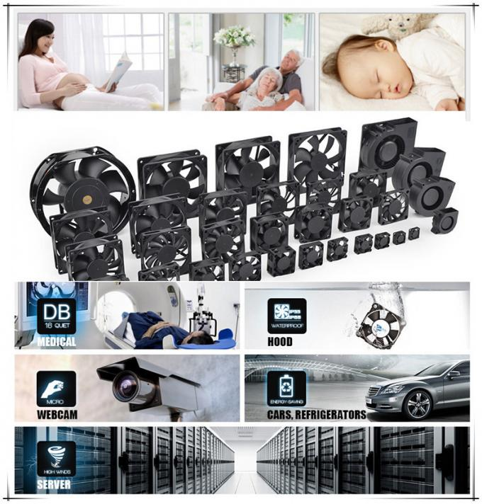 Reversible Plastic Computer Cooling Fans With Positive & Negative Function