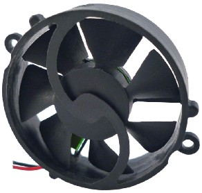 Super Mini Round IP57 DC Axial Fans / Laptop Cooling Fans High Speed