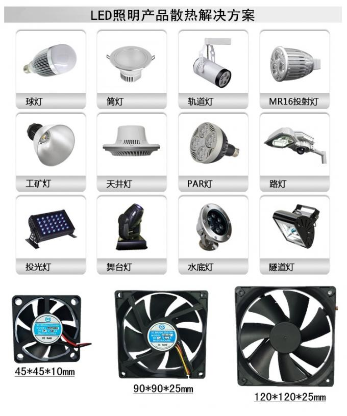 120mm X 120mm X 38mm Waterproof Radiator Fan For Medical / Industry / Home Appliance