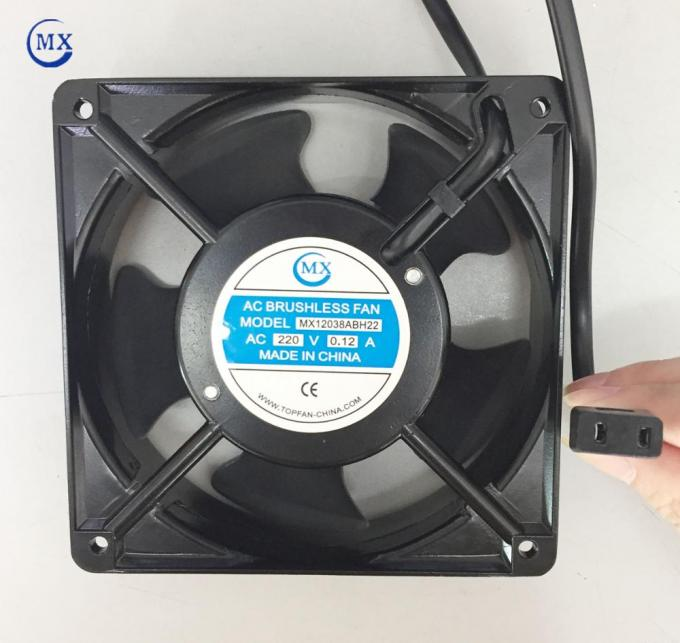 square axial brushless fan with specical connetor size of 120mm X 38mm 12cm ball bearing 220V AC for air cooling