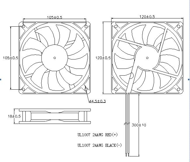 Industrial Equipment Cooling Fans , DC Radiator Cooling Fan Plastic Material