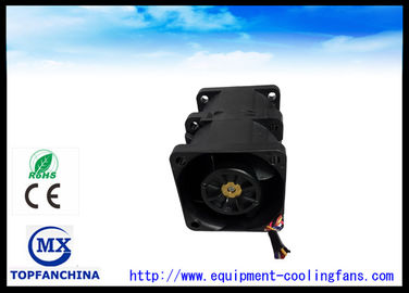 China 40mm x 40mm x 56mm Black Twins Computer Case Cooling Fan / DC Cooling Fan For Laptop supplier