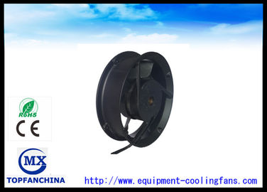China 172mm 24V DC Black Wire Exhaust Fan Motor Waterproof IP55 Or IP66 supplier