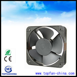 China Black Square High Air Flow Electronic Equipment Cooling Fans For Home Appliances supplier
