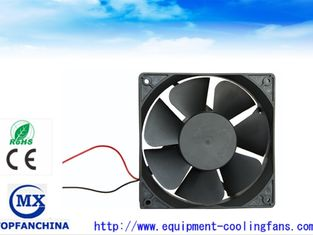 China Waterproof 7 Blade Computer Case Cooling Fans 120mm 24V / 48V With Lead Wire supplier