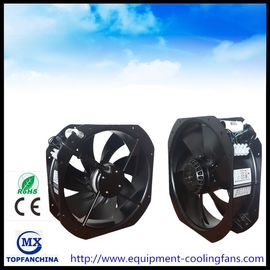 China 11 Inch AC 220V Axail Industrial Cooling Fans Ball Bearing Black Painting Aluminue Frame supplier