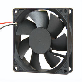 China High Temperature Exhaust 12 Volt Axial Fan For Computer Cases , 80mm X 80mm X 25mm / Computer Mainframe supplier