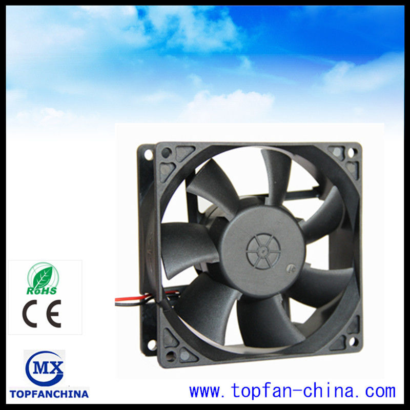 Low noise waterproof ball bearing dc motor fan with 6000 for Low rpm air motor