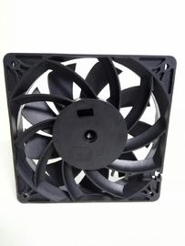 China 12025 Mining Machine Cooling Cross Flow Fans 4300rpm PET Frame / Blade Ball Bearing factory