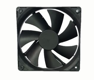 China 12 Volt DC Exhaust Fan Plastic Material 120*120*25mm Low Noise For Computer factory